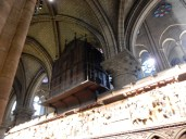 The rear of the organ